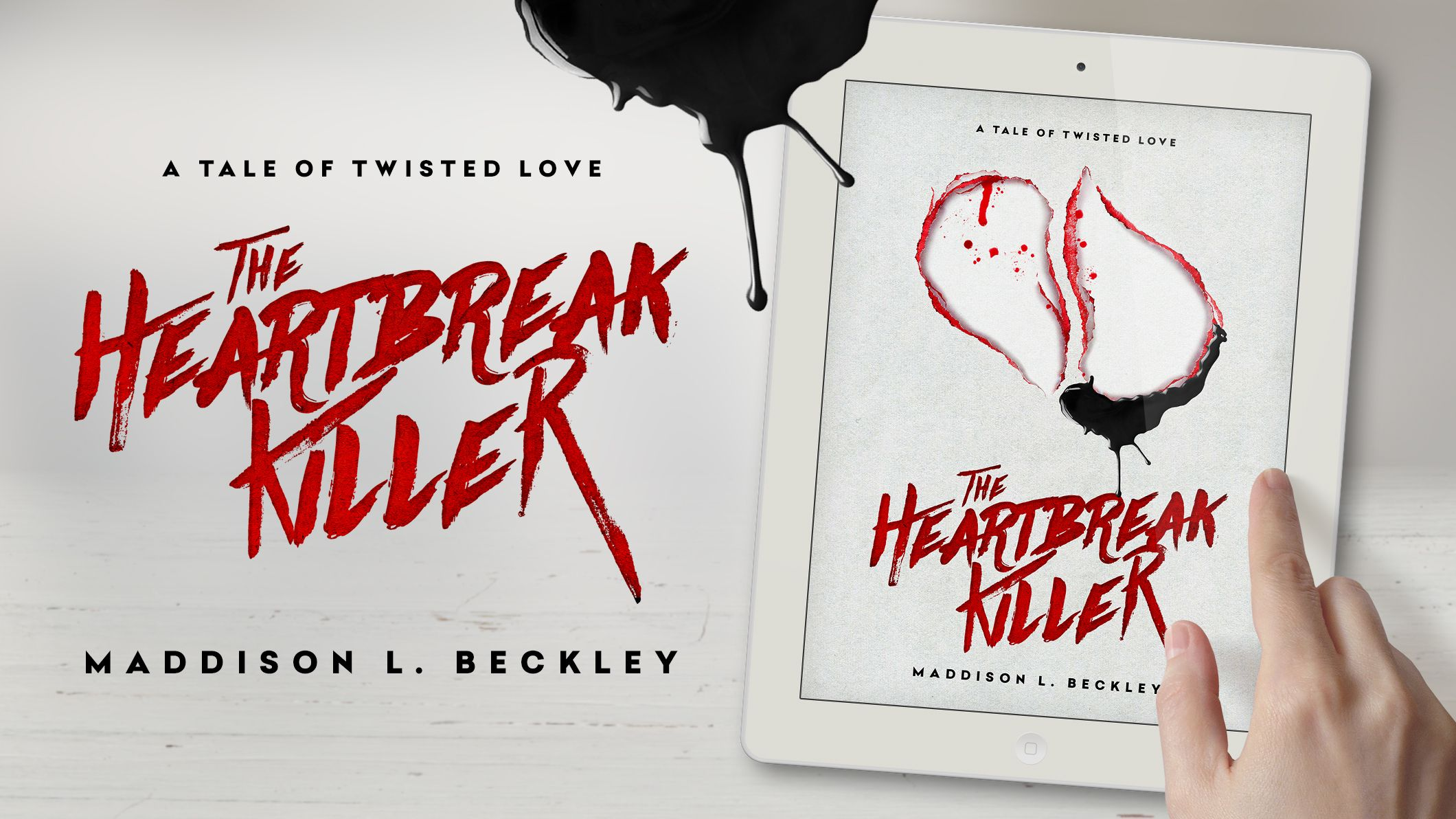 """Promotion for the new eBook """"A Tale of Twisted Love: The Heartbreak Killer"""", out now on Amazon.com"""
