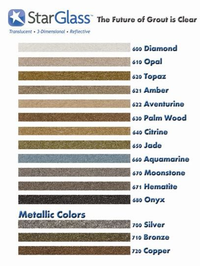 Another Color Sample Board Though This One Separates Metallics Grout Colors Grouting