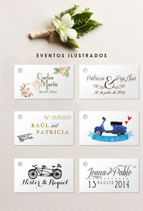 Etiquetas rectangulares con agujero,ideales para dar a tus obsequios un acabado perfecto!