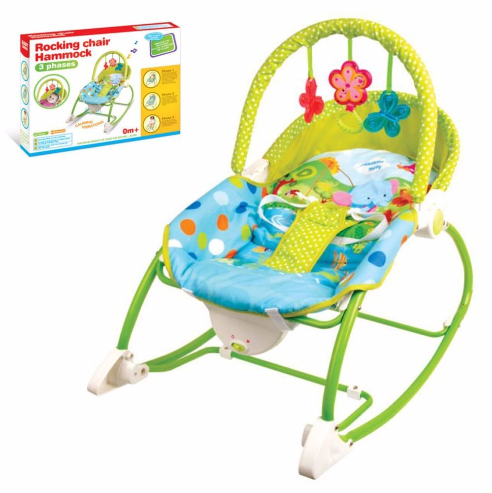 Baby girl vibrating chair - Baby Bouncer Rocker Reclining Chair Soothing Music Vibration Toys Girl Boys