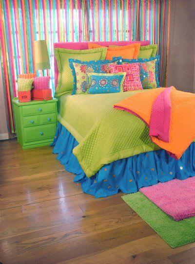 awesome neon color bedroom ideas | Tween/Teen Bedding | Teen Dream Bedding Collection - Sweet ...