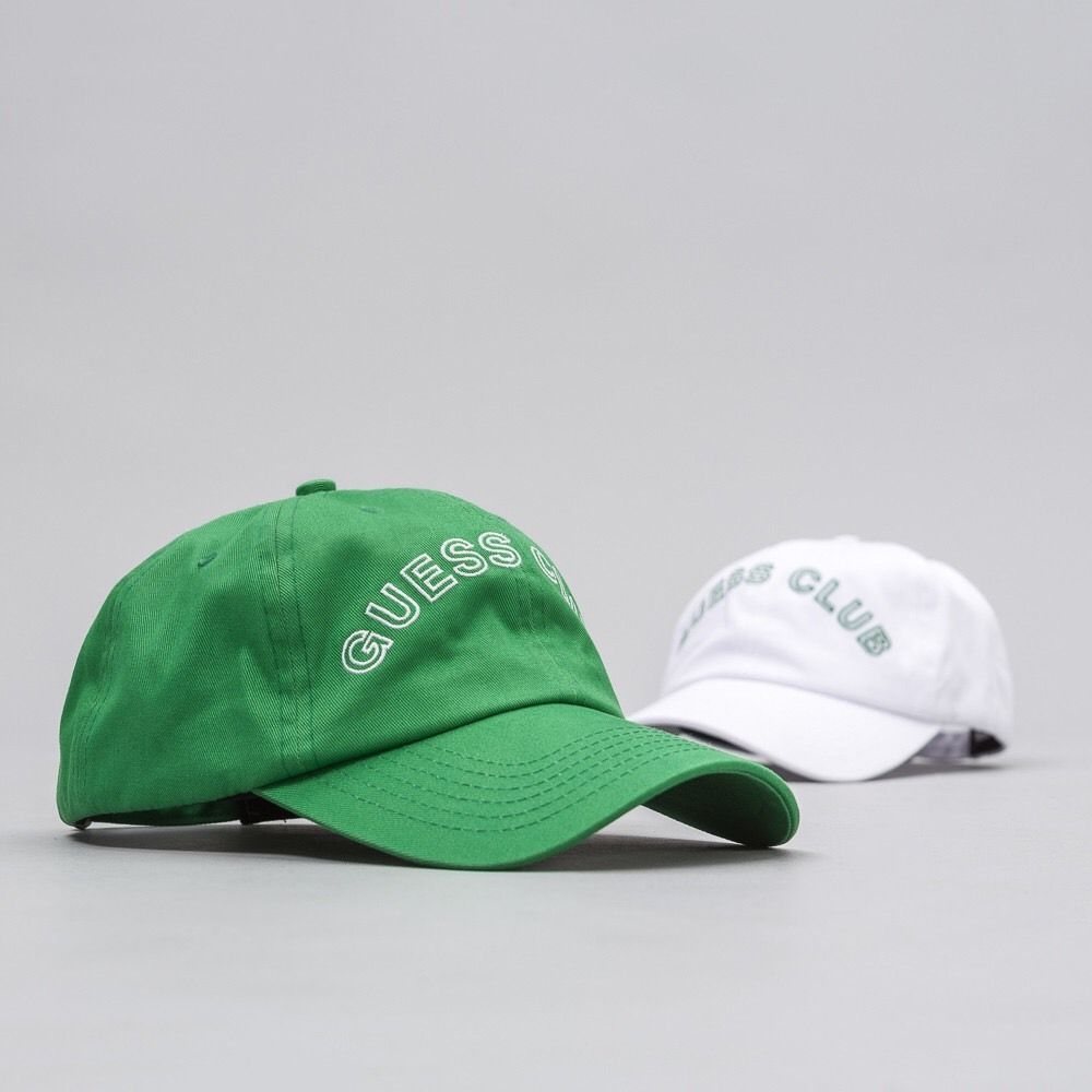 Guess x ASAP Rocky SS17 CLUB Hat Pack GREEN / WHITE Dad Cap OS W
