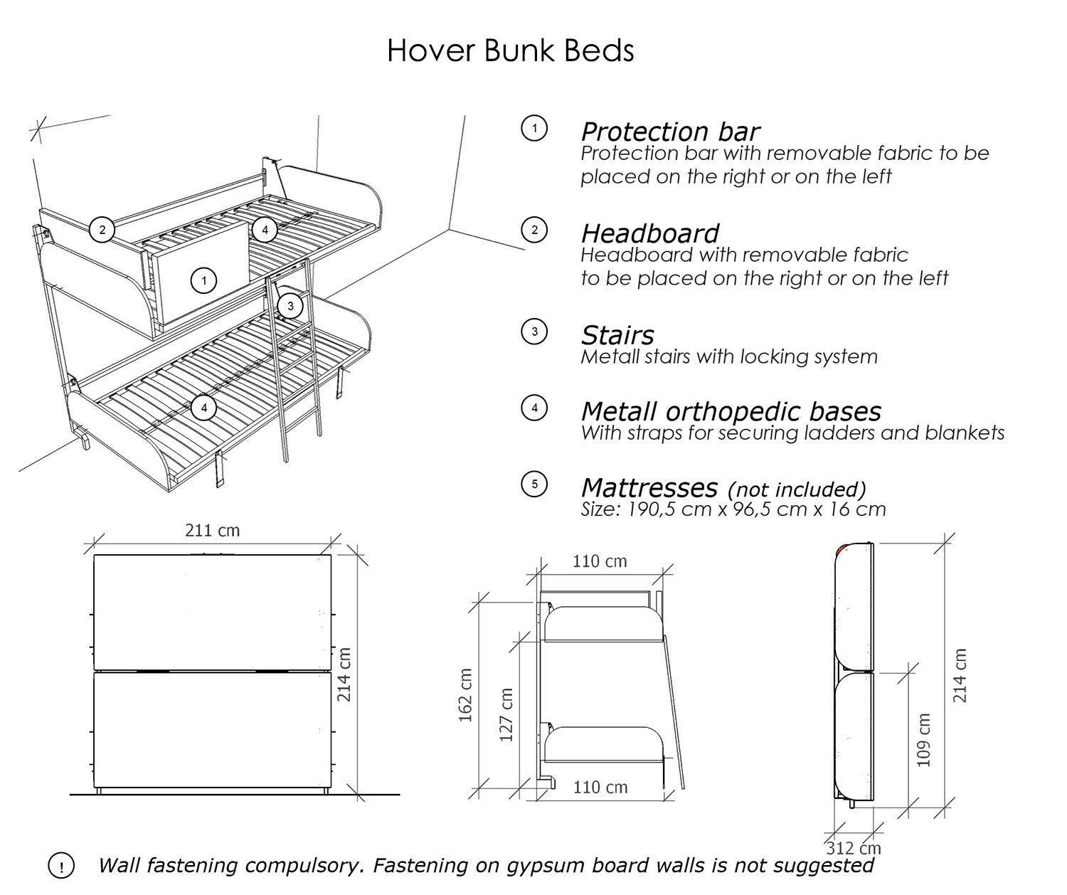 Hover Compact Fold Away Wall Bunk Beds Bunk Beds Bunk Bed Designs Space Saver Bed
