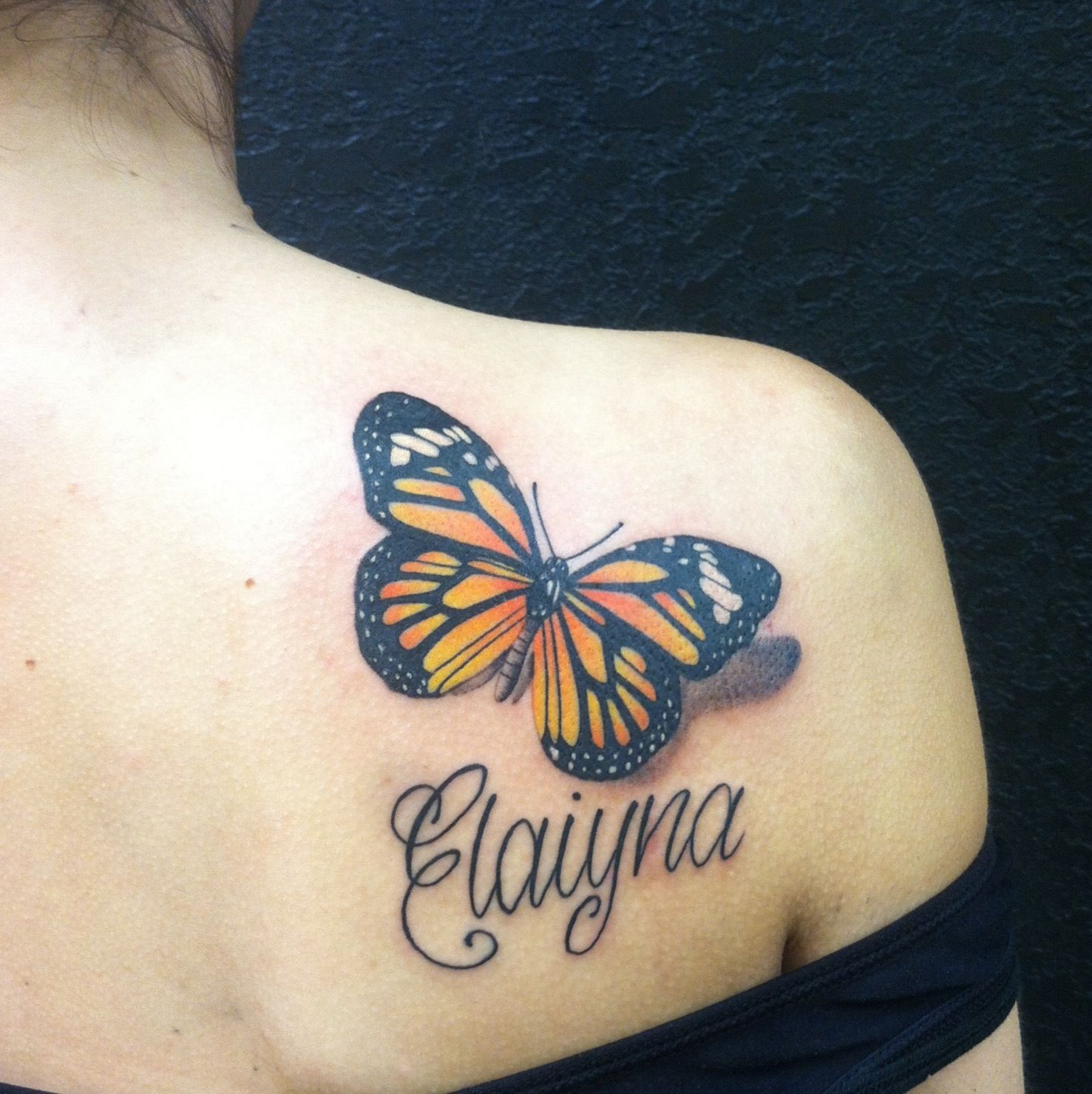 Monarch butterfly tattoo Butterfly back tattoo, Monarch