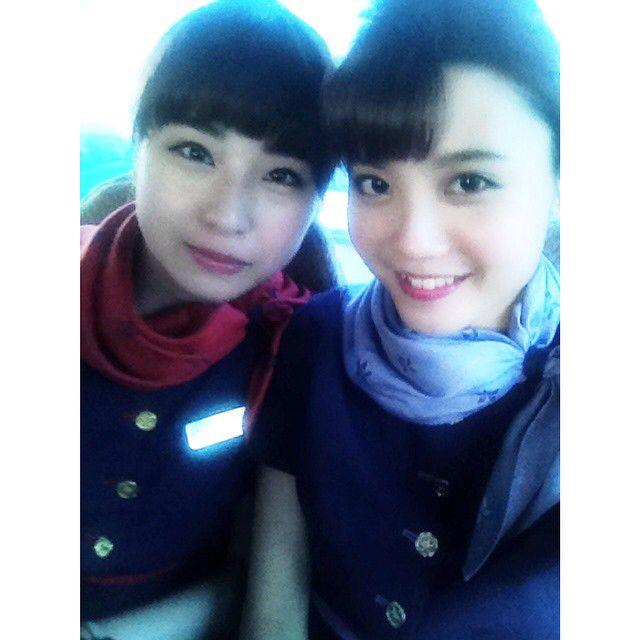 Happy flight with Bernice~