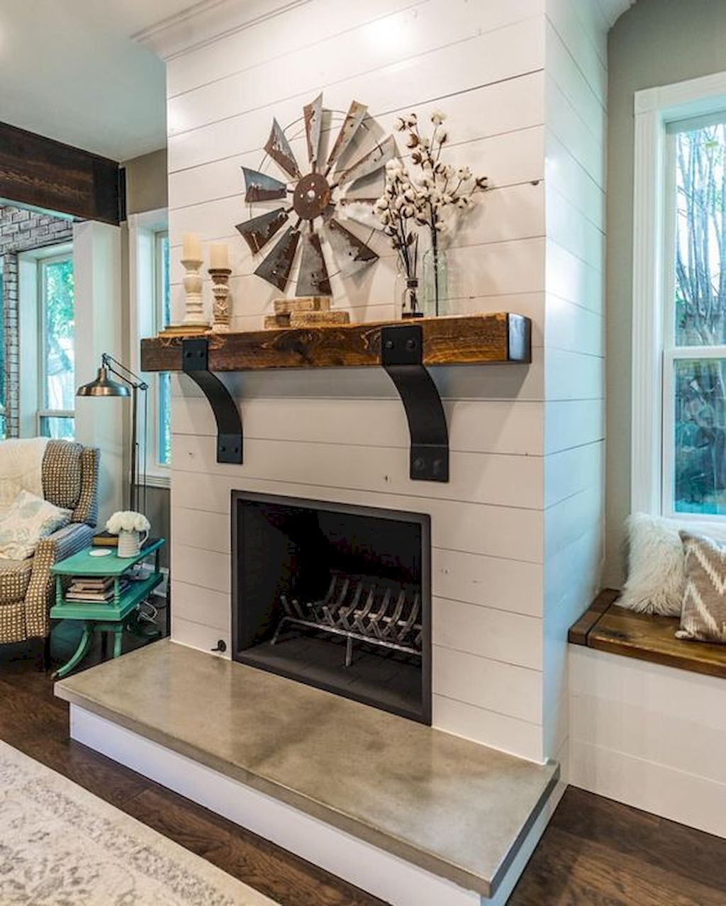 incridible rustic farmhouse fireplace ideas makeover