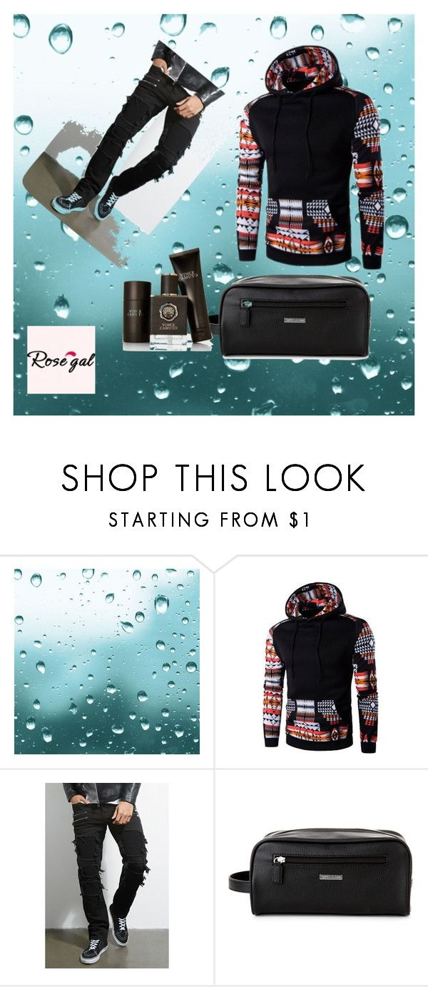 """""""Rose gal  57"""" by fatimazbanic ❤ liked on Polyvore featuring 21 Men, Tommy Hilfiger, Vince Camuto, men's fashion and menswear"""