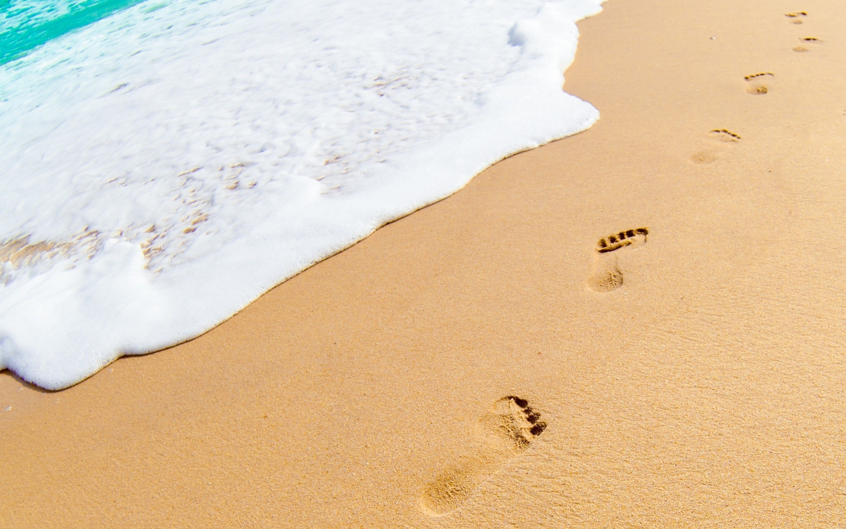 footprints in the sand Wallpaper | HD Desktop Wallpapers | Pinterest ...
