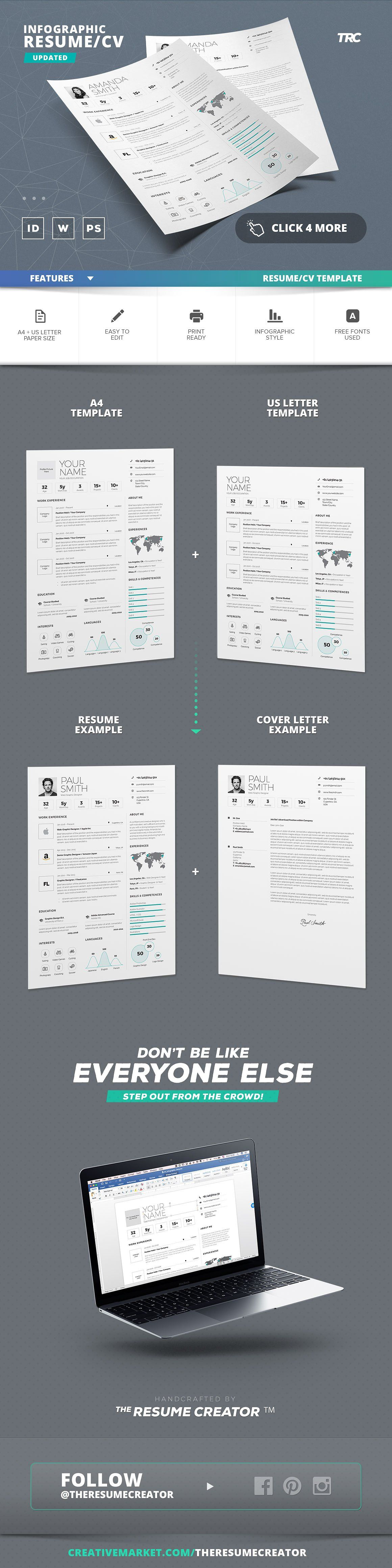 Infographic ResumeCv Template Vol6 by TheResumeCreator on