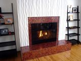 HOW TO RESURFACE A FIREPLACE SURROUND WITH DECORATIVE PANELS