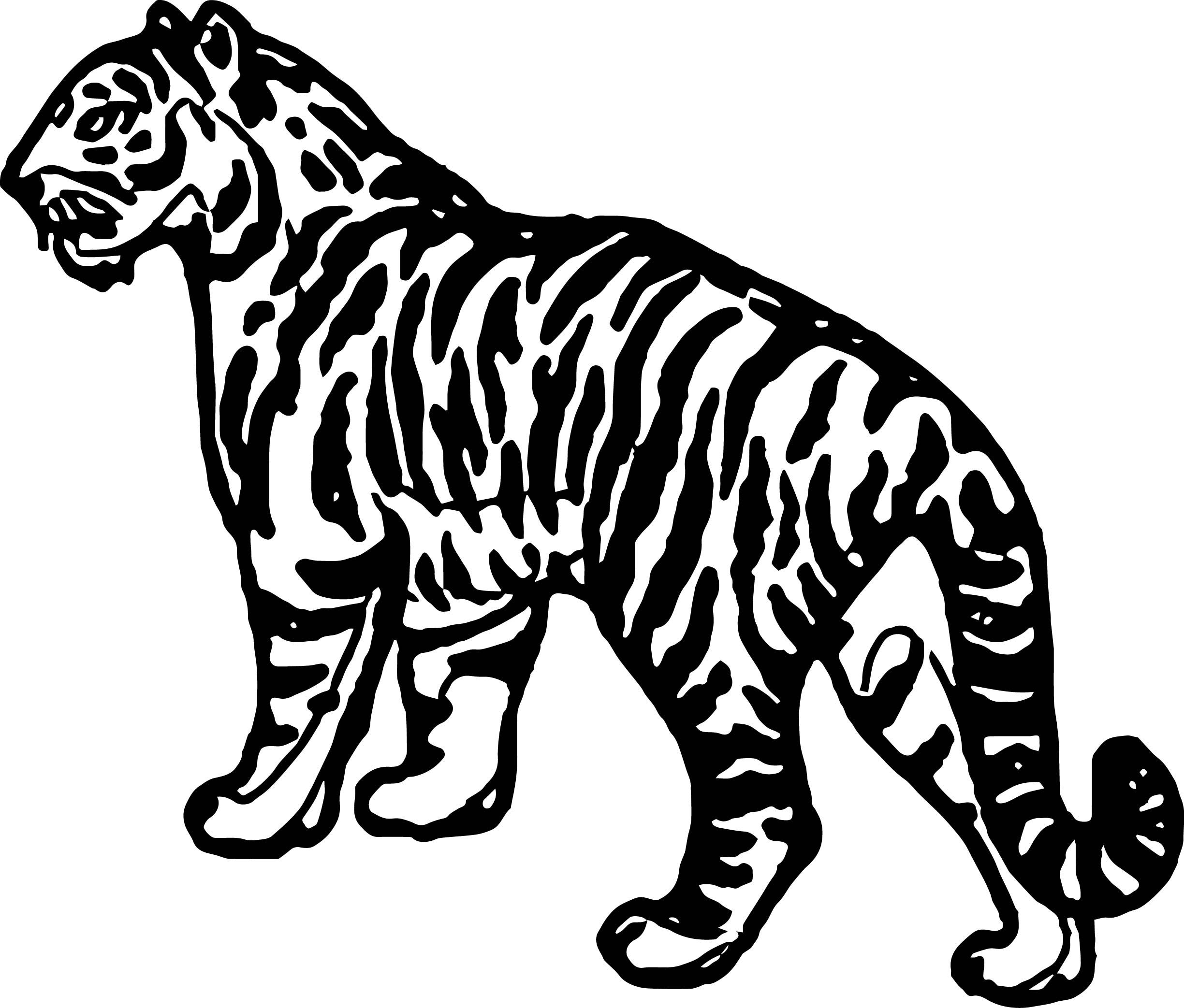 Awesome Waiting Tiger Coloring Page