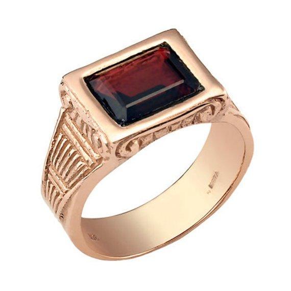 5dd12de15f2aa Garnet Ring, Men's Wedding Ring, Men's Garnet Ring, Red Rectangle ...