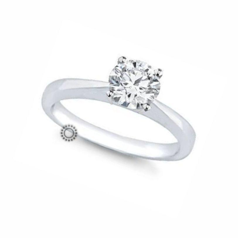Ακριβό μονόπετρο δαχτυλίδι με διαμάντι Brilliant από λευκόχρυσο Κ18 σε  διαχρονικό και λιτό δέσιμο που αναδεικνύει f5e662c5cb1