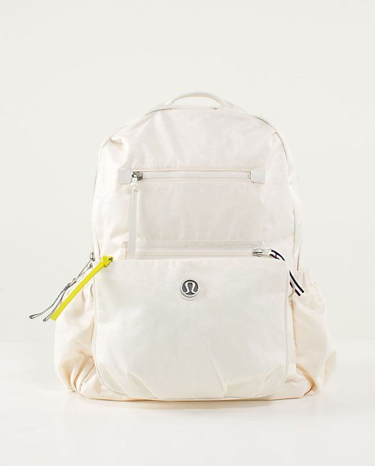 81dd0f6b63 Back To Class Backpack in big paisley emboss angel wing from Lululemon.