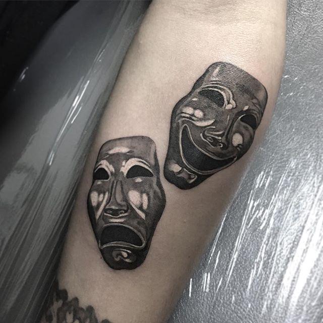 Two face tattoo by Rui Kameta | Face tattoo, Tattoos