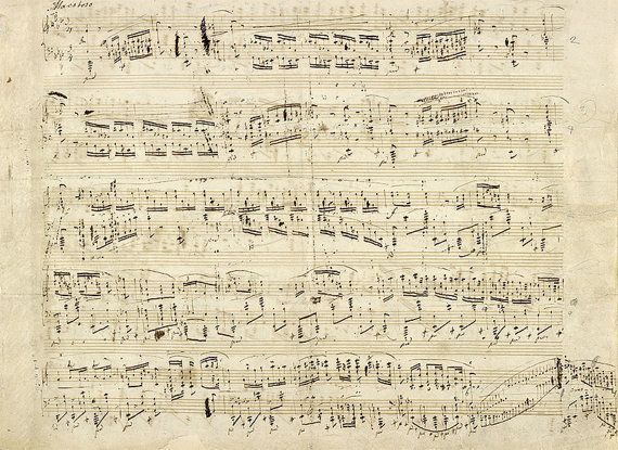 Sheet Music Wall Art download chopin music notes, note musical, old music sheets, music