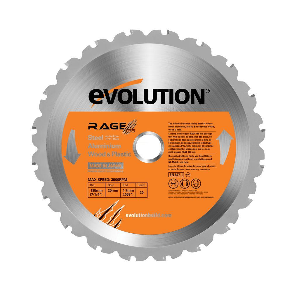Evolution Power Tools Rage 7 1 4 In Multipurpose Replacement Blade Circular Saw Blades Table Saw Best Circular Saw