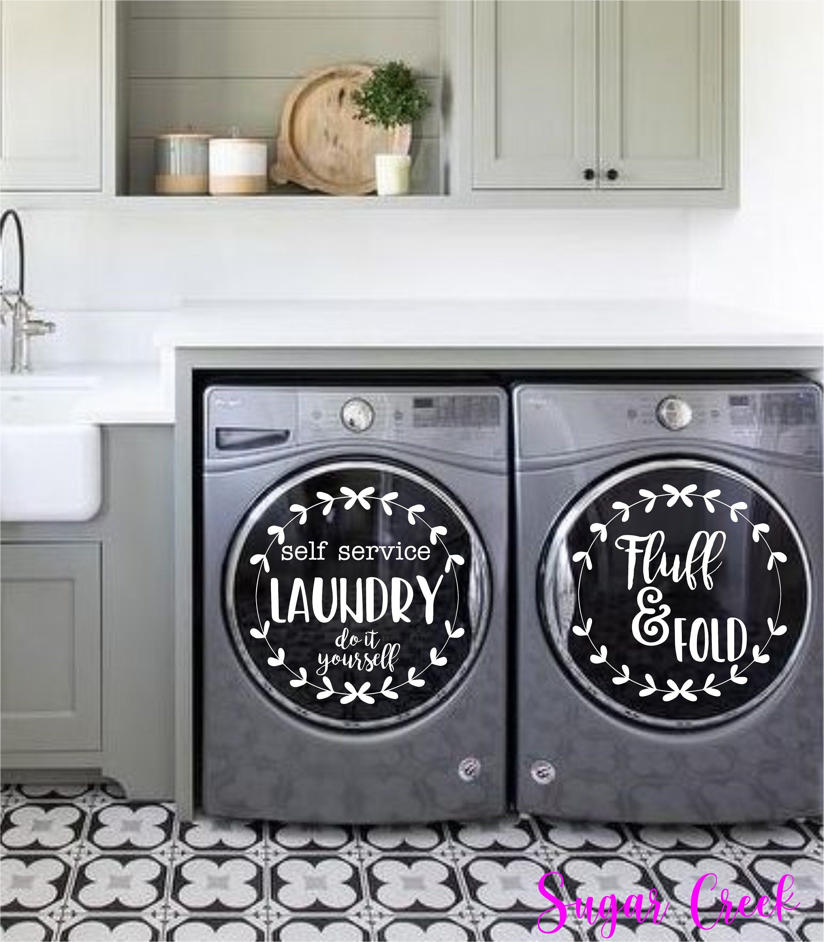 Laundry Room Decor Laundry Self Service Do It Yourself Fold Etsy In 2020 Laundry Room Decor Laundry Room Decals Laundry Room