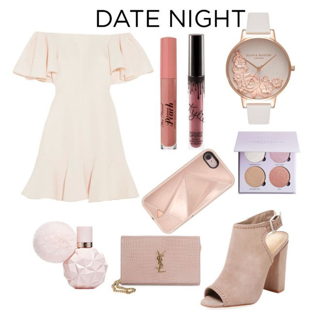 """""""date night"""" by abbybubbie ❤ liked on Polyvore featuring Valentino, Rebecca Minkoff, Olivia Burton, Schutz and Yves Saint Laurent"""