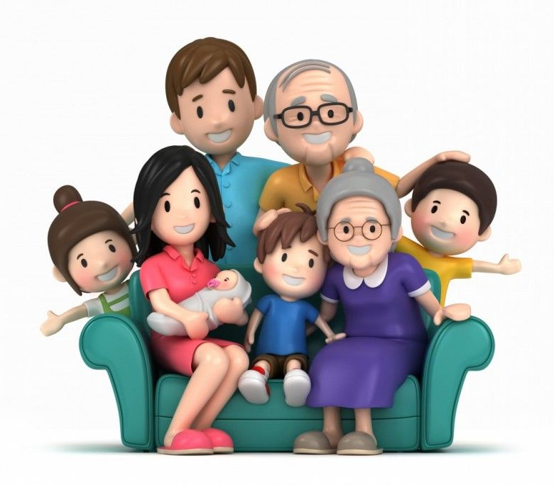 Image result for happy family at home clipart