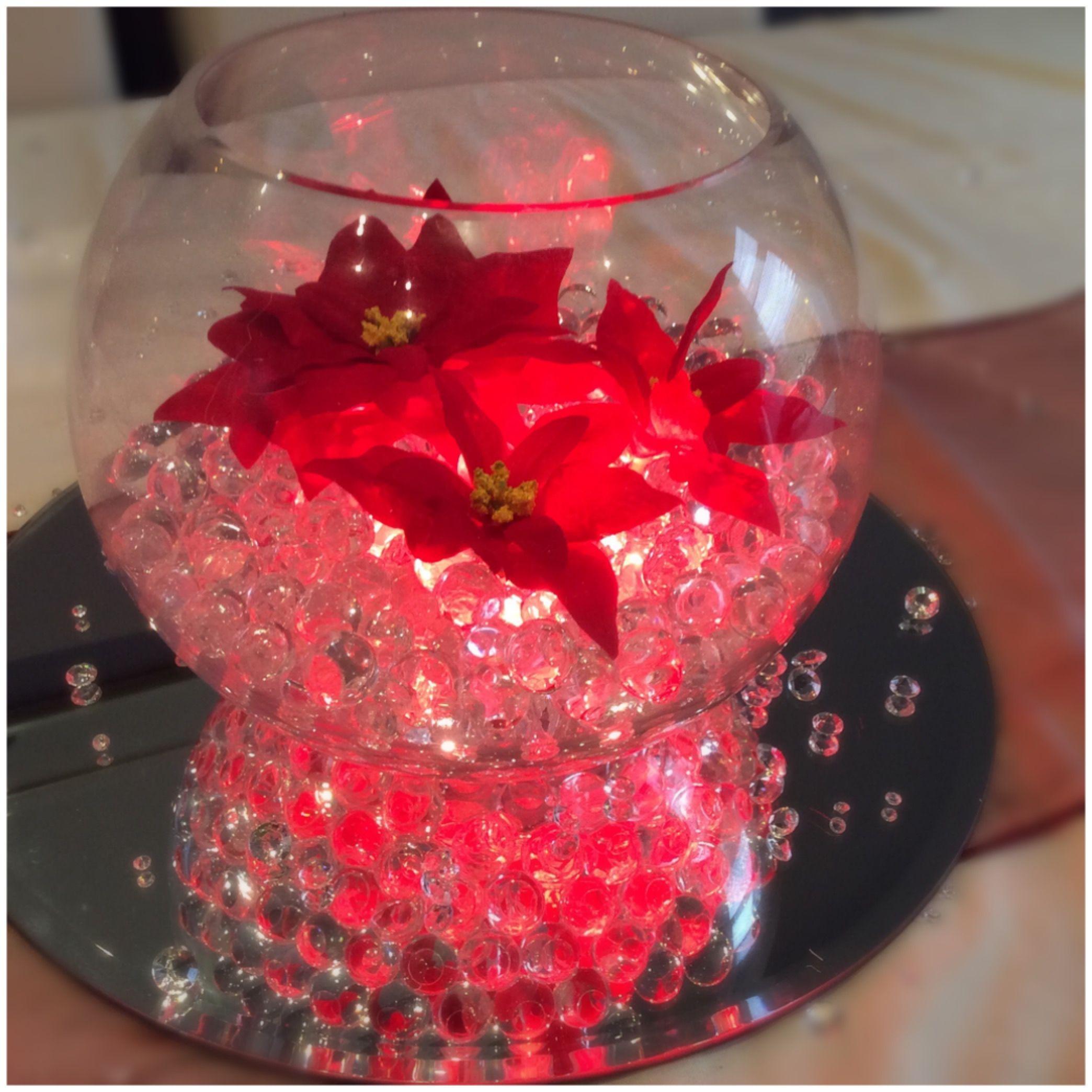 Fish Bowl Wedding Centrepiece Ideas: Fish Bowl Wedding Centrepiece For Christmas Themed