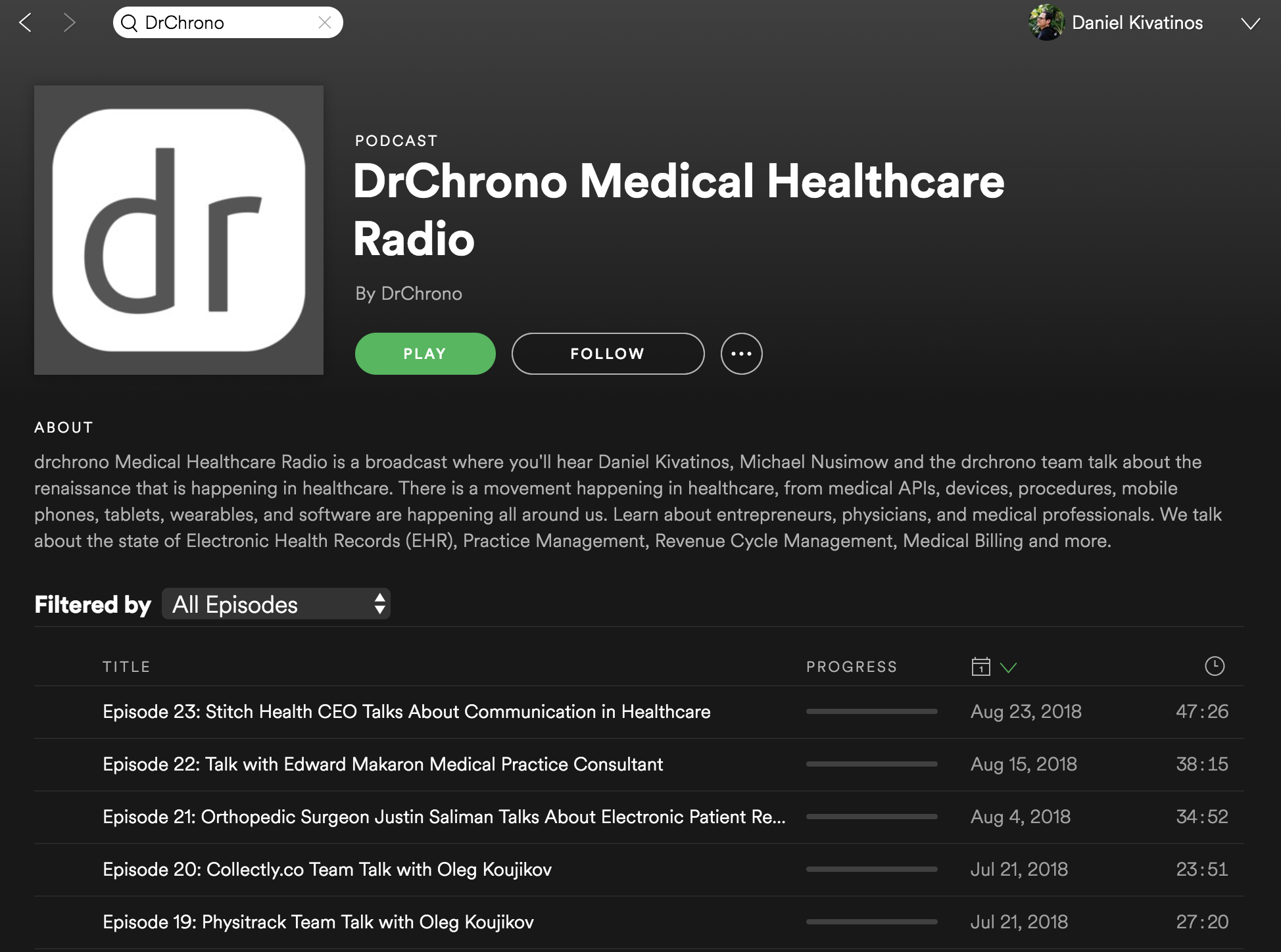 Check out the Healthcare DrChrono podcast on Spotify https