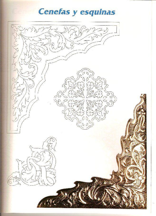 Repujado dibujos para repujar en esta o y plata - Laminas decorativas pared ...