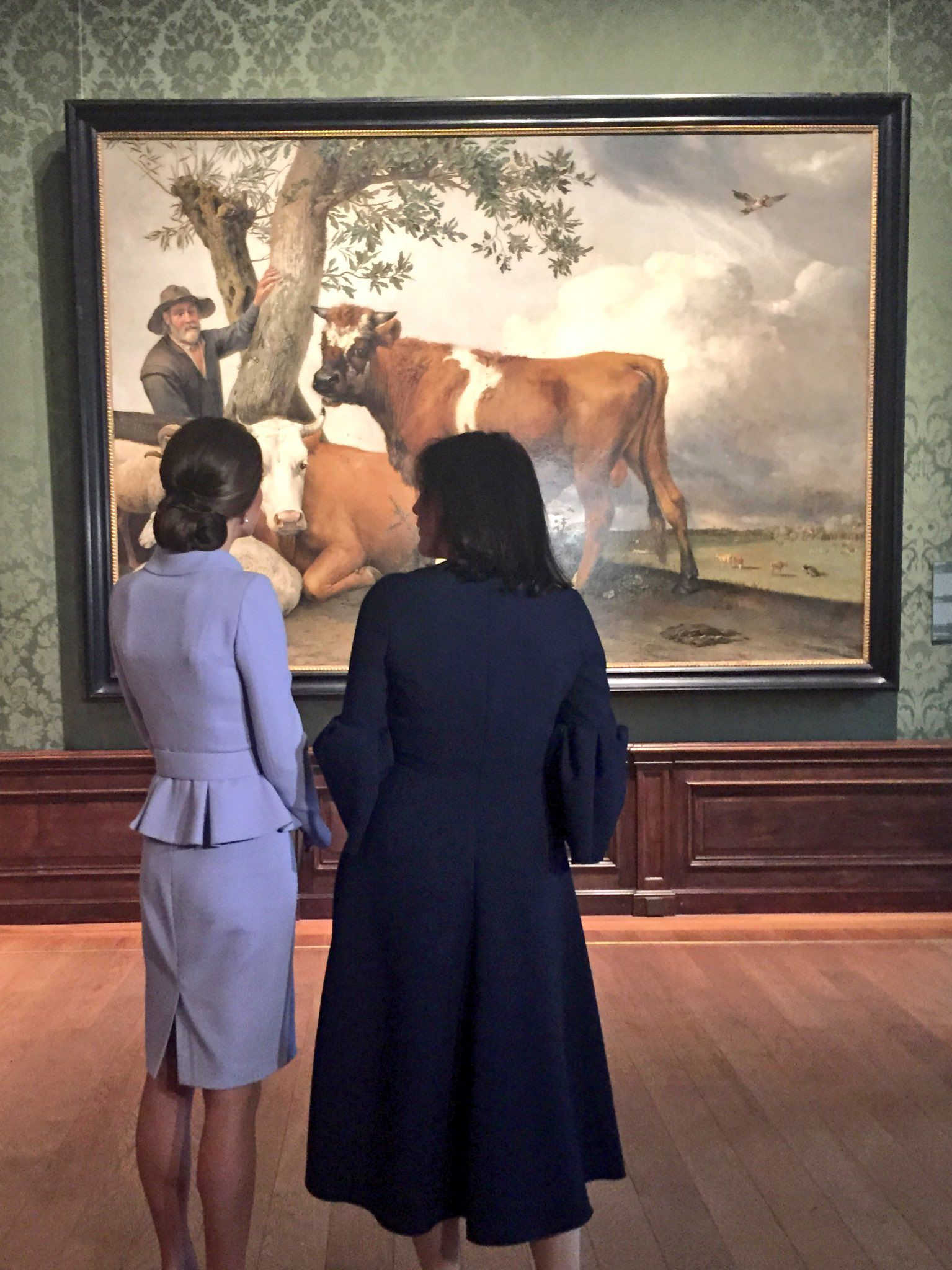 "Kensington Palace on Twitter: ""Surveying the Dutch masterpiece The Bull by Paulus Potter"