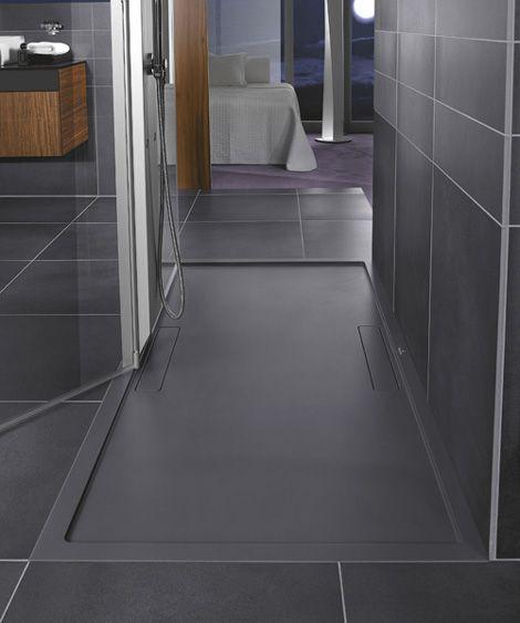 Cool Walk In Shower Ideas New Squaro Designs By Villeroy Boch Shower Room Shower Tray Shower Tray Bathroom