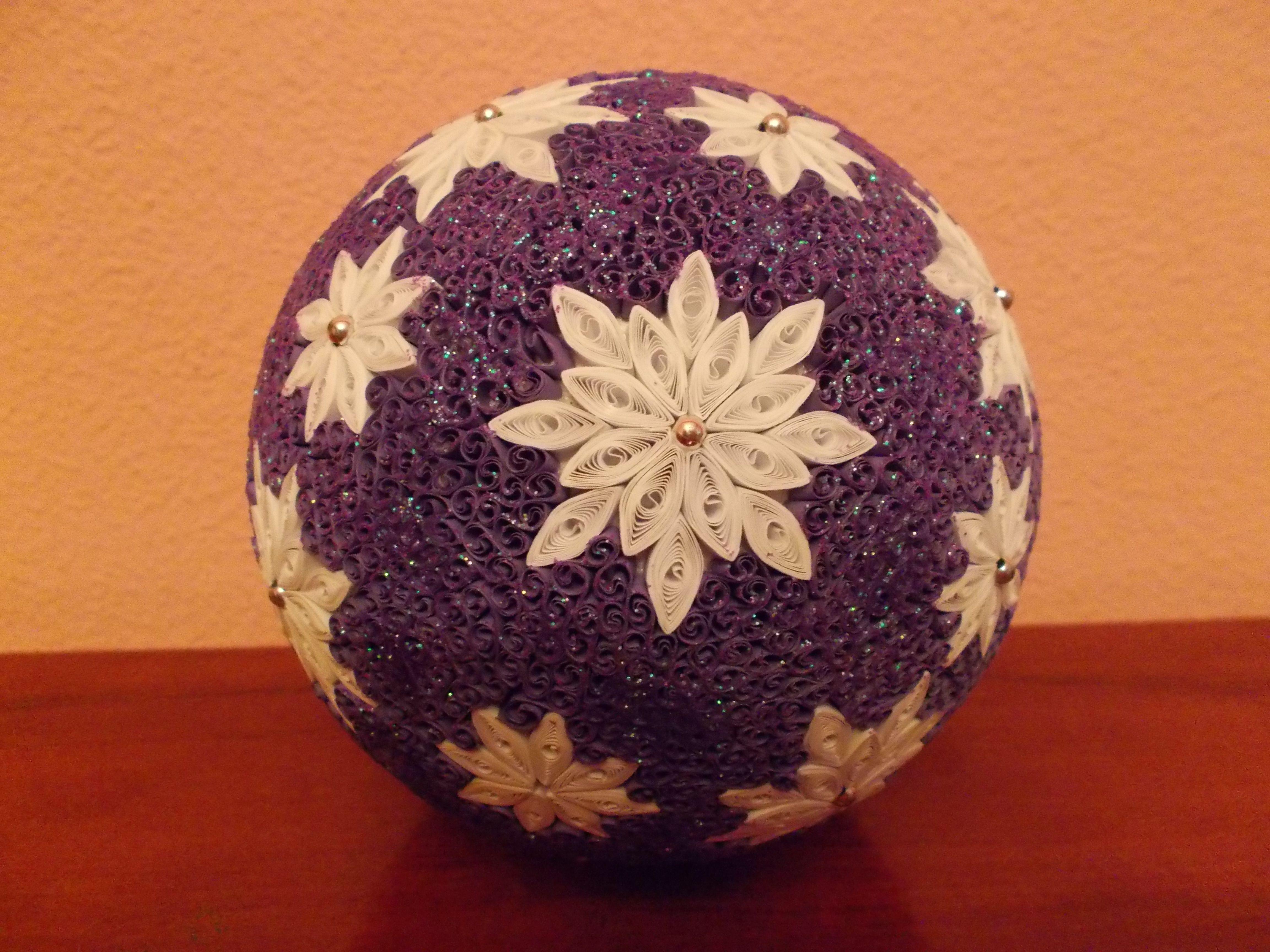 Christmas ornament quilling max pinterest d co de for Deco quilling