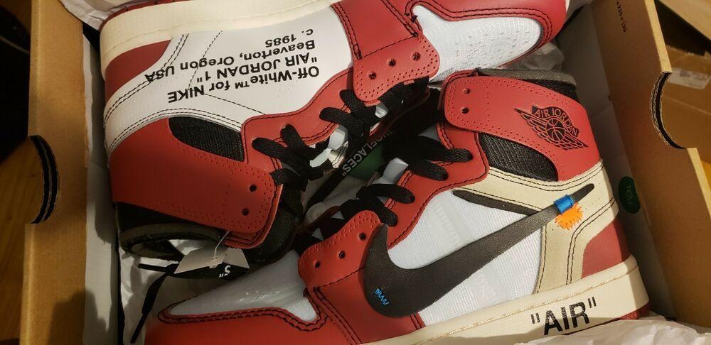 Off White Air Jordan 1 Chicago Stock X Verified Size 10 Fashion