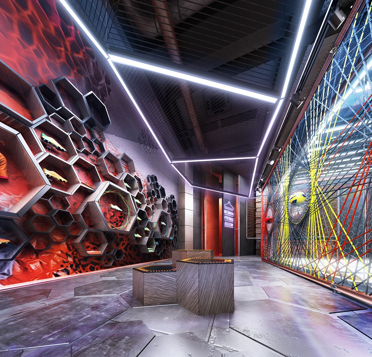 Retail design project of the Conceptual soccer sportswear