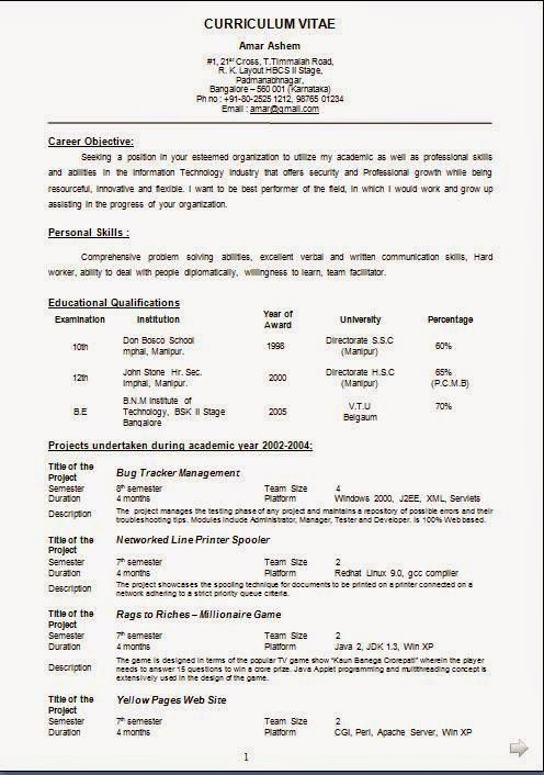Formato De Resume Formato De Curriculum Sample Template Example Of Excellentcv .