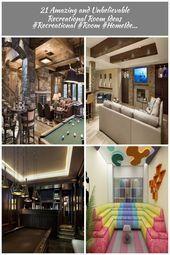 Photo of 21 Erstaunliche und unglaubliche Ideen für Freizeiträume #Recreational #Room # …