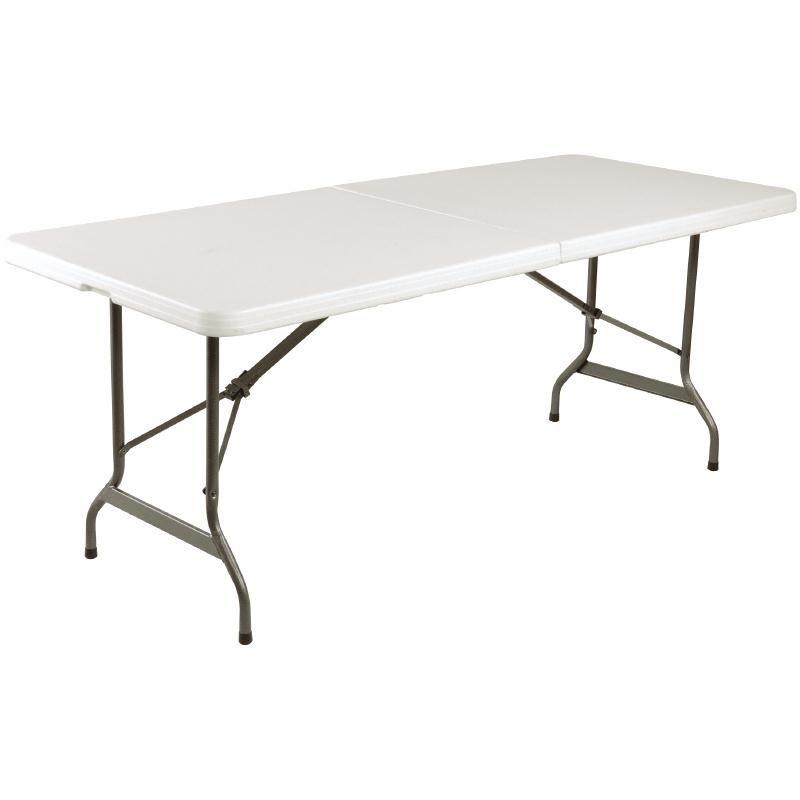Bolero Centre Folding Utility Table White 6ft Garden Pinterest