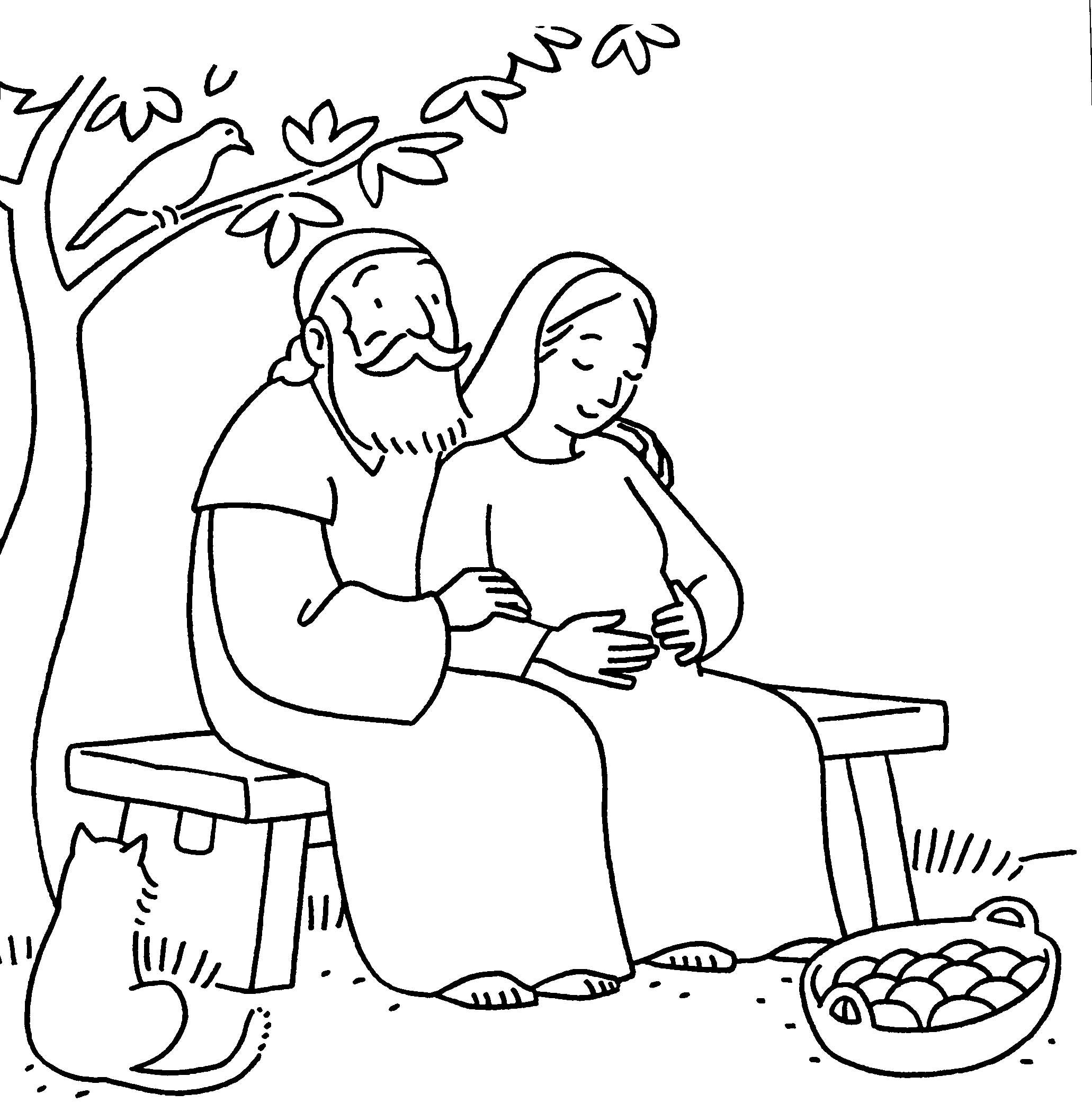 Elizabeth And Zechariah Gods Promises By Sarah Michael Lesson 6 PromisesColoring SheetsSunday SchoolBible