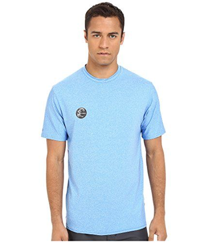 ONeill UV Sun Protection Mens Hybrid Rash Tee Brite Blue  LG * Details on product can be viewed by clicking the VISIT button