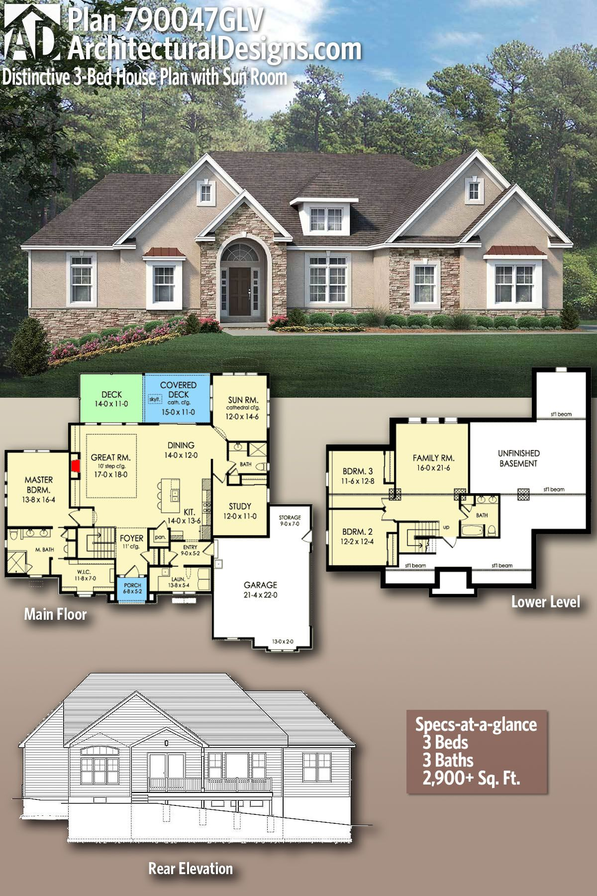 Architectural Designs House Plan 790047GLV gives you