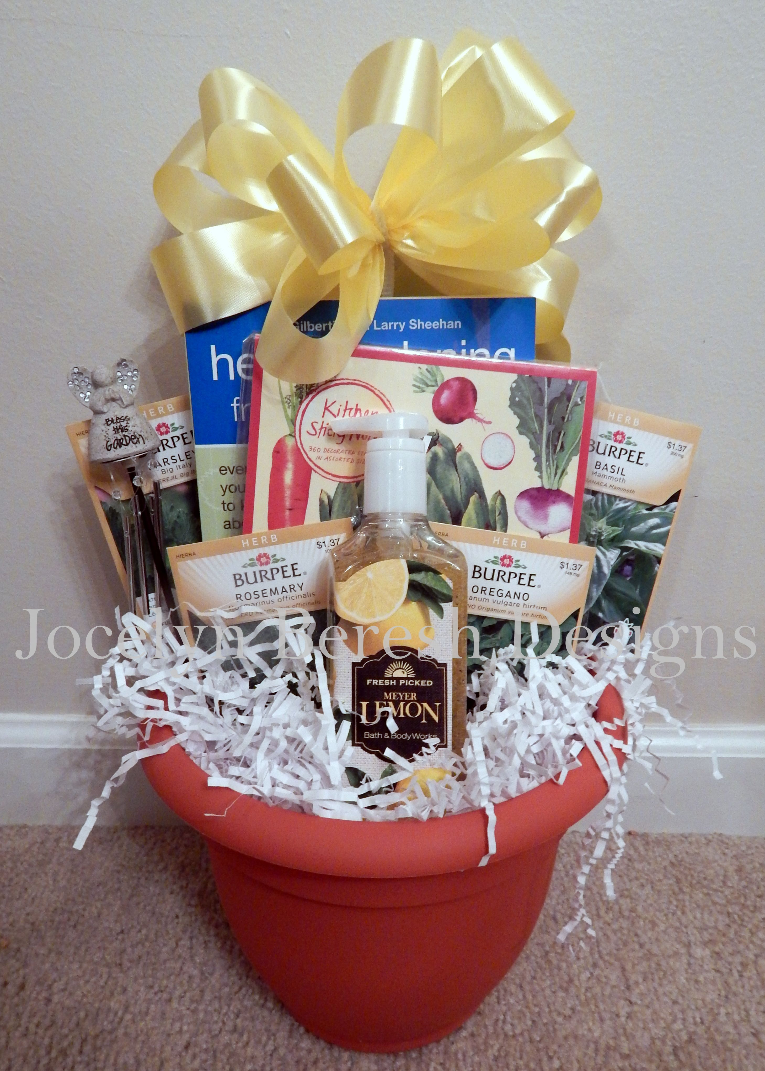 Herb Garden Basket by JocelynBereshDesigns. Check us out