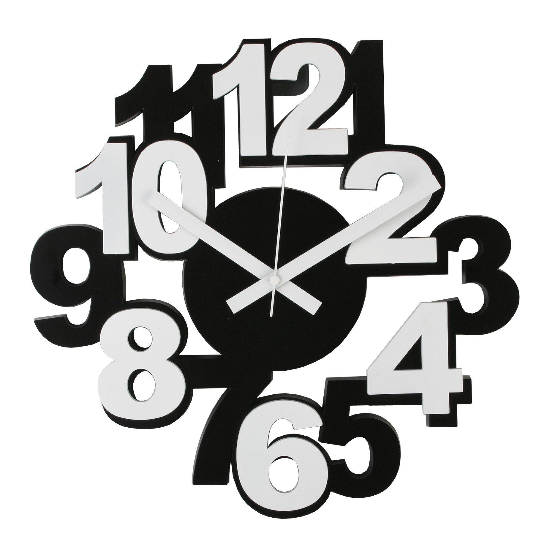 Payless Shop Horloge Murale en Plastique Moderne et Stylée