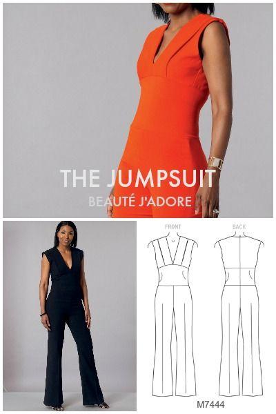 Sleek, elegant jumpsuit sewing pattern by Beauté J\'Adore for ...