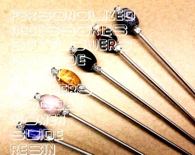 Stick Wooden Hair Fork Resin Wood Hairpin Handmade Hair Accessories Personolized Hair Slide Gift for Women Flowers Hair Stick Wooden Hair Fork Resin Wood Hairpin  Etsy Fl...