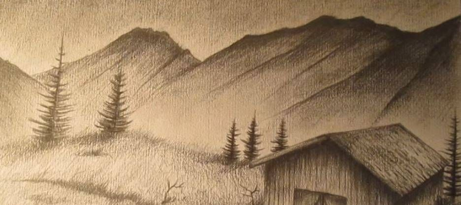 Paso 5 Para Dibujar Paisajes Realistas Paisaje A Lapiz Paisajes Dibujos Dibujos A Lapiz Faciles