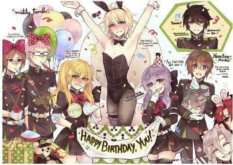 Yuichiro Hyakuya S Birthday Surprise Not Mine Anime Bitches