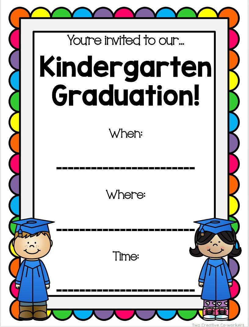 This Invitation Is Included In Our Kindergarten Graduation Bundle Of Diplomas Invitations And Kindergarten Graduation Graduation Bulletin Board Kindergarten [ 1070 x 816 Pixel ]