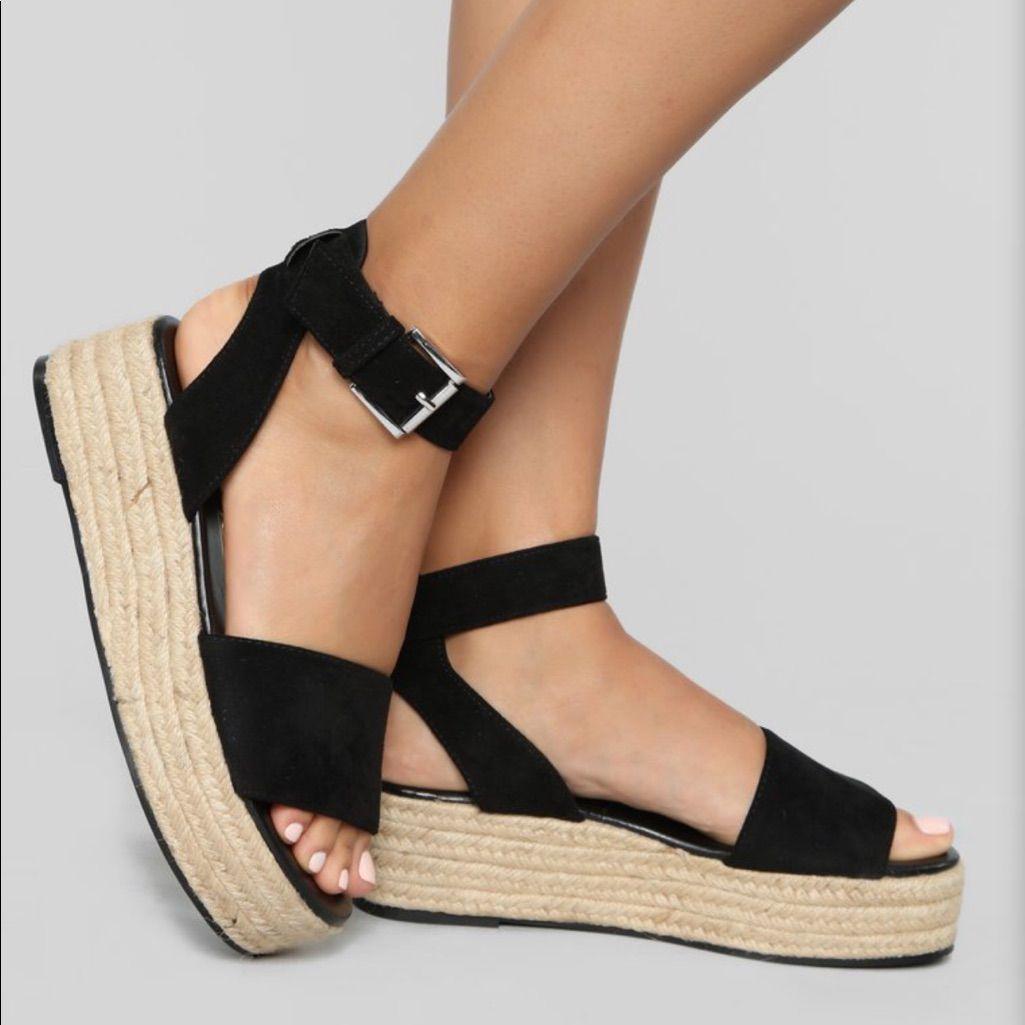 Fashion Nova Shoes   Nwt Fashion Nova Espadrille Sandals