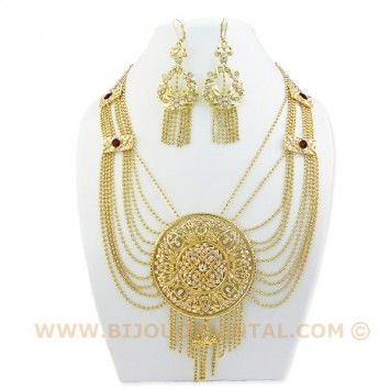 Parure Orientale - Mélissa - CC807 bijou, bijoux, oriental, Maroc, Algérie,  Afrique, plaqué or, tradition, traditionnel, arabe, 0cd05decb35