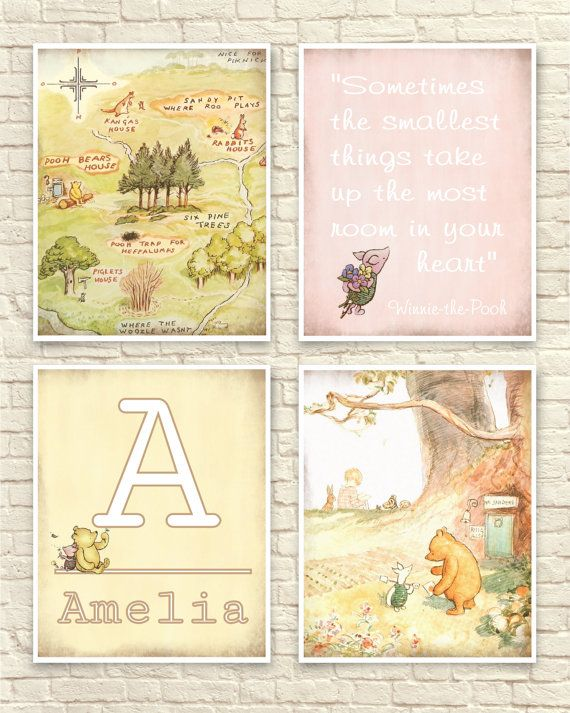 Classic Winnie The Pooh, Pooh Wall Art, Classic Pooh Set, 100 Acre ...