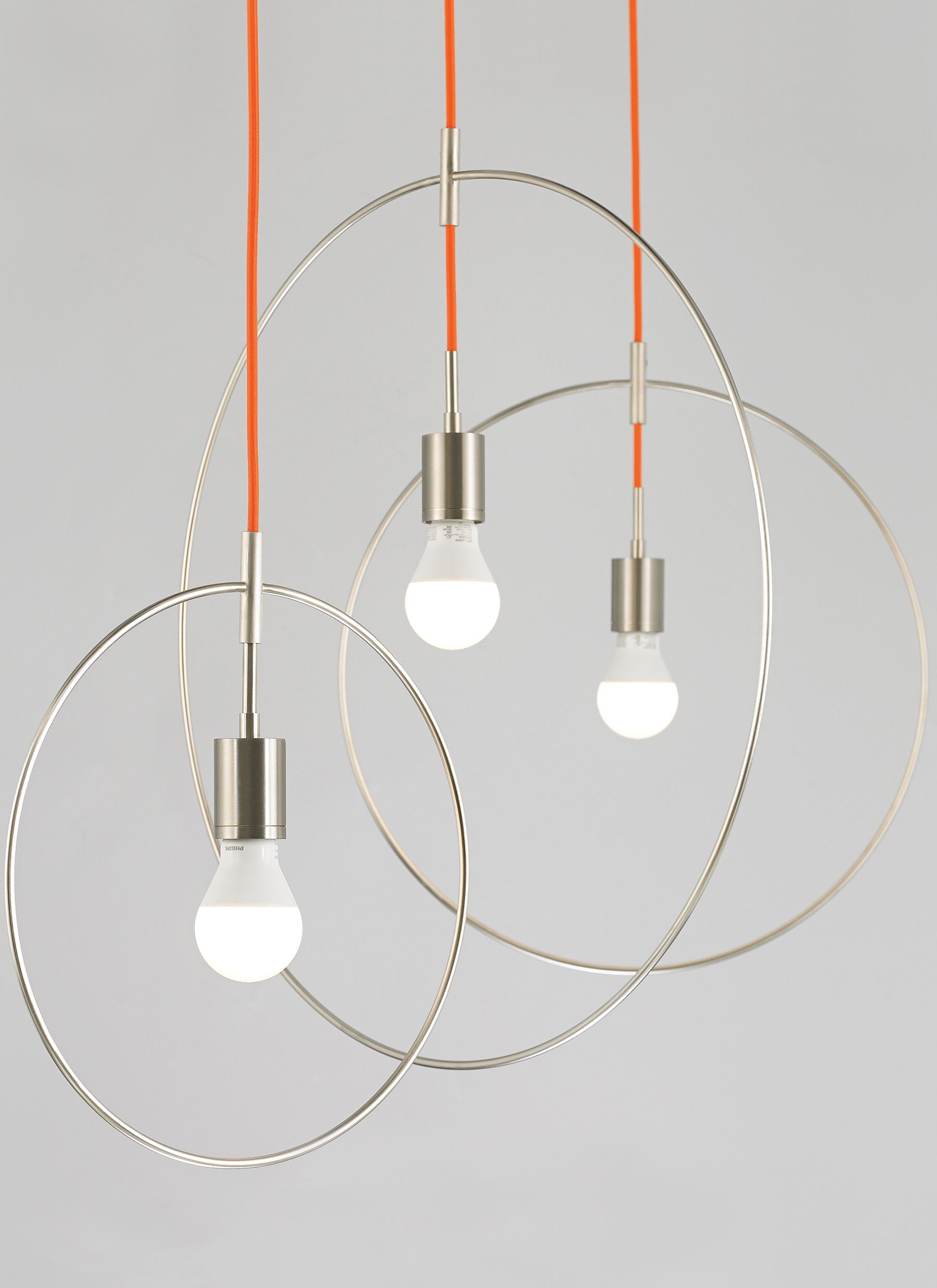Available in three sizes, the Locus pendant light