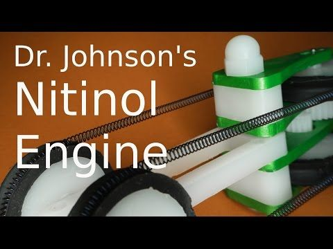 Very strong Nitinol Engine running on warm water and ice - YouTube